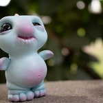 Smidgeicorn First Steps (BABY BLUE) - Resin Figure