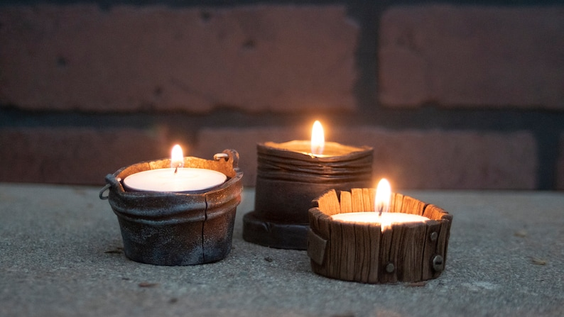 Tea Light Candle Holder Set of 3 image 0