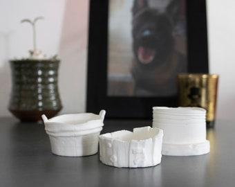 Tea Light Candle Holders BLANK DIY-Set of 3