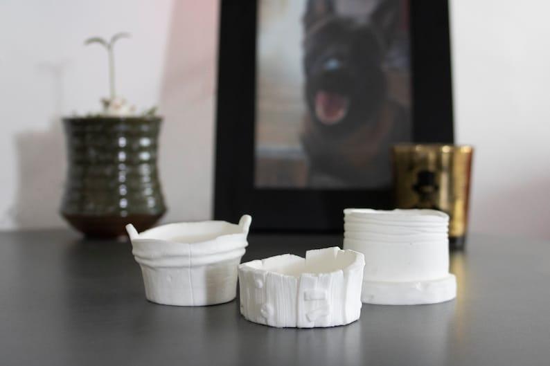 Tea Light Candle Holders BLANK DIY-Set of 3 image 0