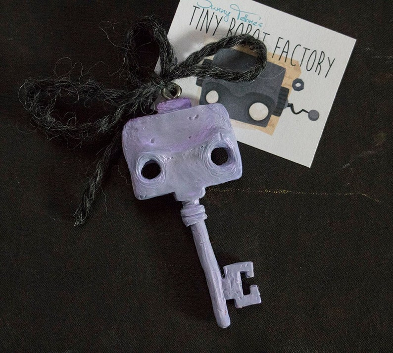 Tiny Robot Keychain  3 color options image 0