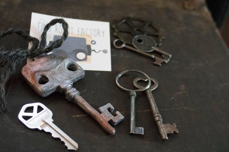 Tiny Robot Keychain  Dual Tone image 0