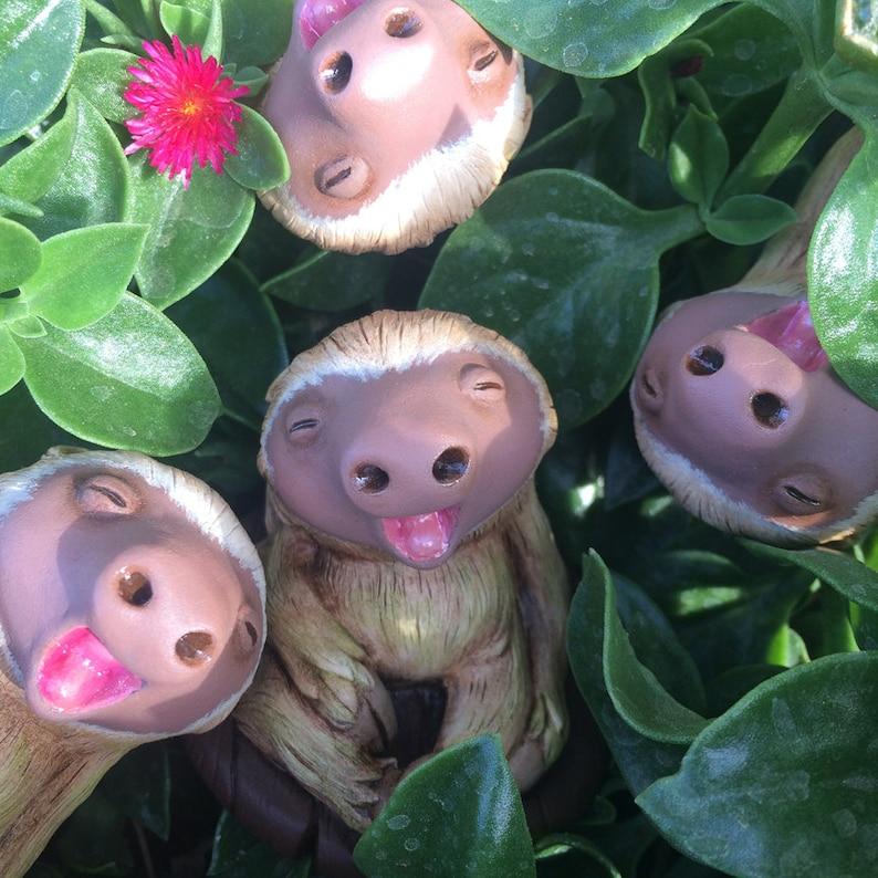Pocket Sloth Handcast/Hand-Painted Resin Figure image 0