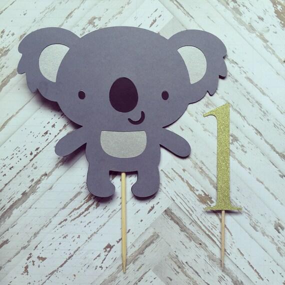 Groovy Koala Bear Cake Topper Smash Cake First Birthday Etsy Funny Birthday Cards Online Hetedamsfinfo