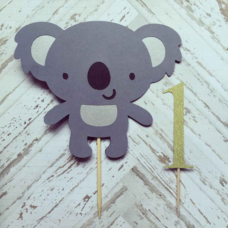 Koala Bear Cake Topper Smash Gâteau Premier Anniversaire