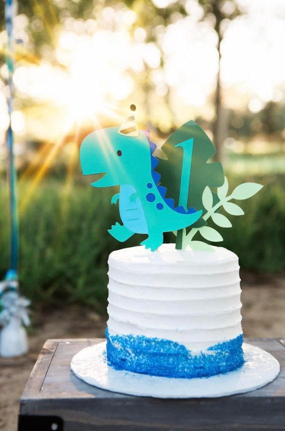 Dinosaur Cake Topper Smash Cake First Birthday Etsy