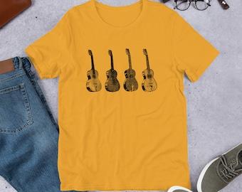 Acoustic Guitars Short-Sleeve Unisex T-Shirt  - Bella & Canvas 5 Colors!