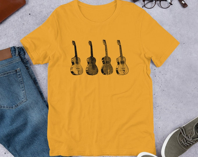 Featured listing image: Acoustic Guitars Short-Sleeve Unisex T-Shirt  - Bella & Canvas 5 Colors!
