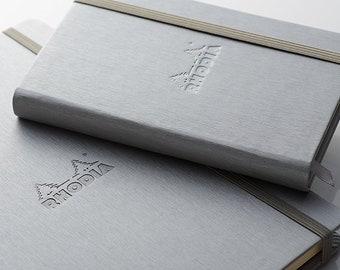 "Rhodia Boutique Webnotebooks - 3 1/2"" x 5 1/2"" -  Dot Grid Silver - 96 Sheets"