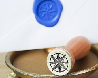 Compass Rose Wax Seal Stamp