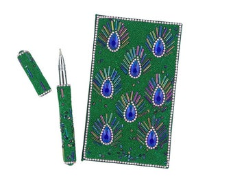 Eye of the Peacock Notebook and Pen