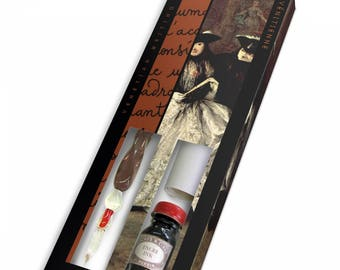 Venetian Glass Pen Writing Set