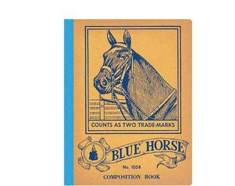 Blue Horse Composition Book