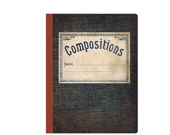 Compositions Vintage-sytle Notebook