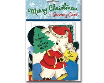 A Trunkful of Christmas Wishes - Christmas Card Set