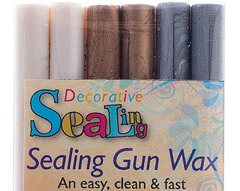 Sealing Gun Wax pack of 6 - Pearl, Gold, Silver
