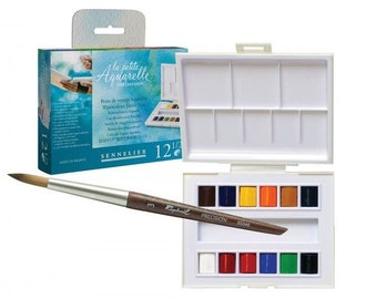 Sennelier La Petite Aquarelle 12 Pan Travel Watercolor Set