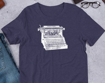 Typewriter T-shirt - Bella + Canvas 3001 Short-Sleeve Unisex T-Shirt, Writer Shirt