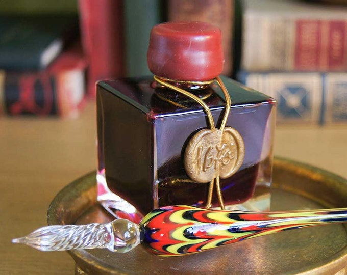 Featured listing image: J. Herbin 1670 Anniversary Fountain Pen Ink in Rouge Hematite - 50ml bottle