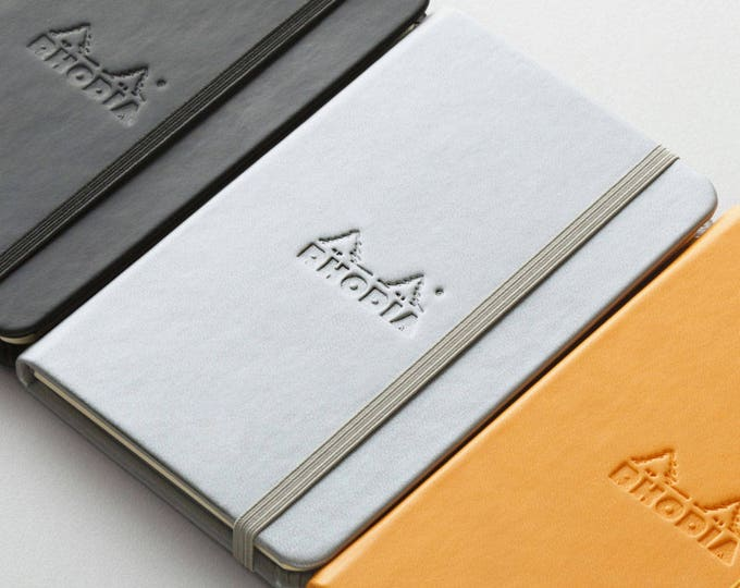 Featured listing image: Rhodia Web Notebook Silver A5 5.5 x 8.25 - Dot Grid 90g paper