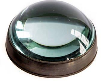 "Desktop Magnifier - Antiqued Brass 4.25"""