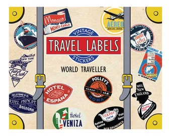World Traveler Vintage Luggage Labels