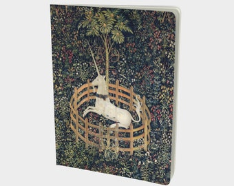 Unicorn Tapestry Large Notebook, You choose the paper, Ruled, Dot Grid, Blank or Graph Journal Paper
