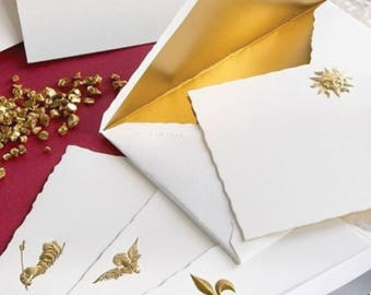 G. Lalo Versailles Sun King (Gold Embossed) Stationery set