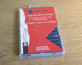 Fountain Pen Ink Cartridges - Black Pack Of 30 by Manuscript