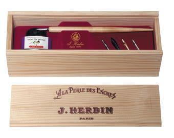 J. Herbin Wooden Box Writing & Calligraphy Set