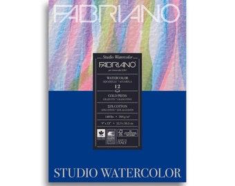 """Fabriano Studio Watercolor Pad 9"""" x 12"""" - 12 Sheets Cold Pressed 140lb"""