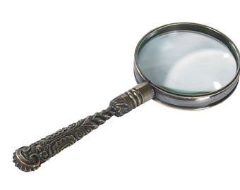Rococo Magnifying Glass, Bronze