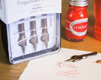 Brause Index Finger Pen Nib - Set of 3 nibs - medium-fine point