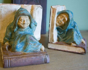 Tipsy Monks - Rare California Art Pottery Bookends
