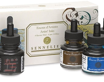 Sennelier Artist Inks - 4 Bottles and colors