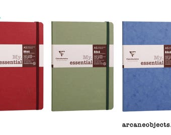 Clairefontaine My Essentials A5 Notebook - Red, Green and Blue