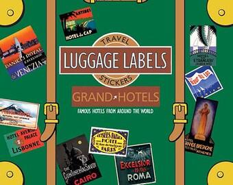 Grand Hotels Vintage Luggage Labels