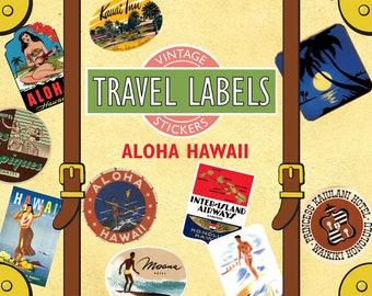 Aloha Hawaii Vintage Luggage Labels