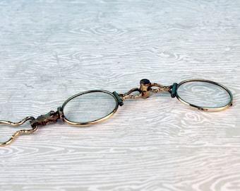 Gold Filled Sterling Silver Lorgnette Reading Glasses