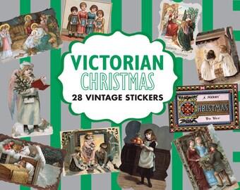 Victorian Christmas Sticker Box