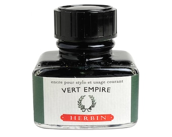 "J. Herbin Vert Empire ""D"" Green Fountain Pen Ink - 1 oz Bottle"