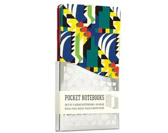 Kaleidoscope Art Deco Pocket Notebooks - 3 Pack