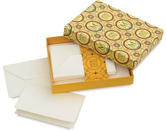 "Medioevalis Set of 20 Folded Cards & Envelopes 3.3"" x 5.1"""