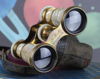 Mother of Pearl Opera Glasses - Lemaire Paris - Antique