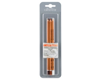 Cretacolor 3 Assorted Artists' Pencils - Black, White, Sepia