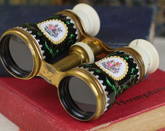 French Enameled Opera Glasses - c1890