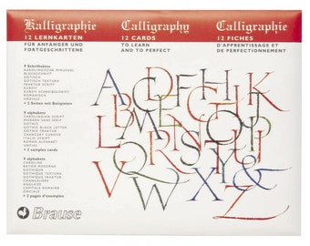 Brause Calligraphy Lettering Guide