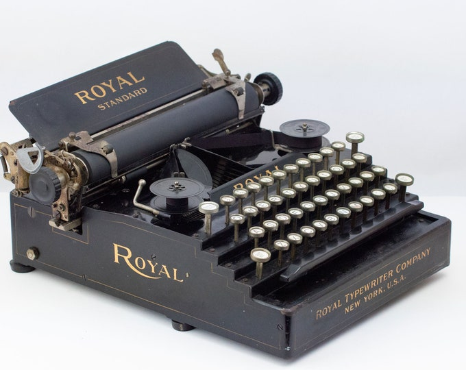 Featured listing image: Rare Royal Standard No. 1 Typewriter - 1908 Works!