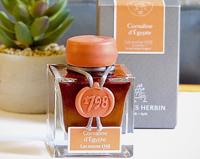Featured listing image: Jacques Herbin 1798 Cornaline d'Egypte (50ml) - Fountain Pen Ink