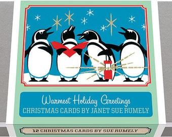Warmest Holiday Greetings - Christmas Cards by Janet Sue Rumely